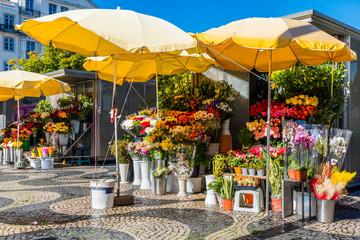 Lissabon – Blumenmarkt am Rossio; Portugal