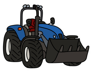 The blue small open loader