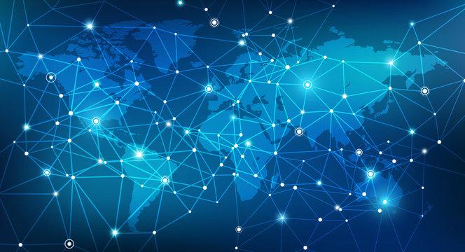 Blockchain network / digitalization / global infrastructure concept design