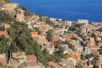 Vue panoramique sur le quartier de Bologhine ex saint Eugène à Alger, Algérie