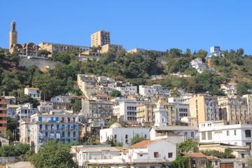 Vieux bati au quartier Belouizdad à Alger, Algérie
