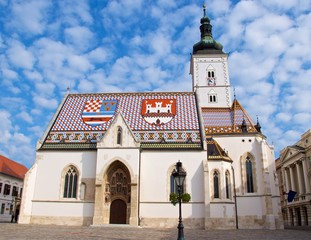St. Mark Church in the Upper Town in Zagreb, Croatia