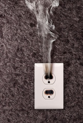 smoke from the outlet