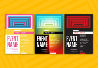 Event Poster with Geometric Elements