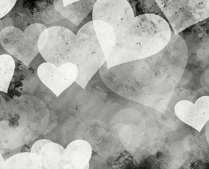 black and white painted hearts backgrounds