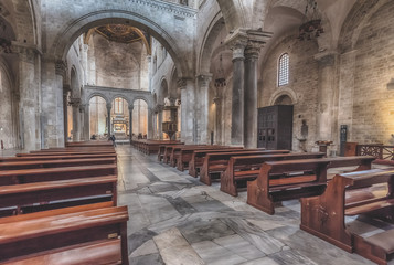 The interior of the Basilica of Saint Nicholas in Bari