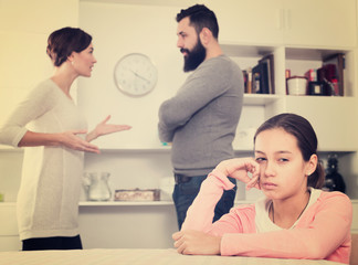Parents arguing at home