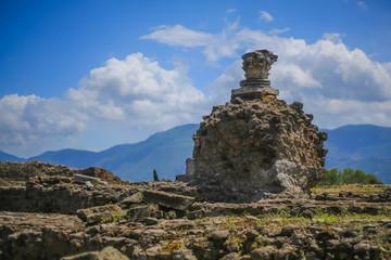 Pompeii ruins, Italy - on blue sky
