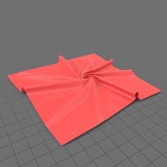 Square crumpled fabric 1