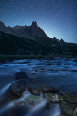Vallée de la Clarée de nuit