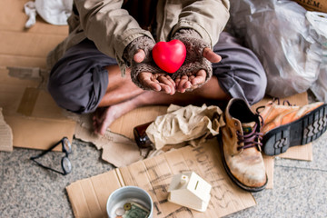 Homeless people need love from society.
