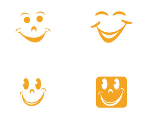 Smile vector icon illustration