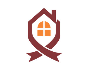 knot house housing home residence residential real estate image vector icon