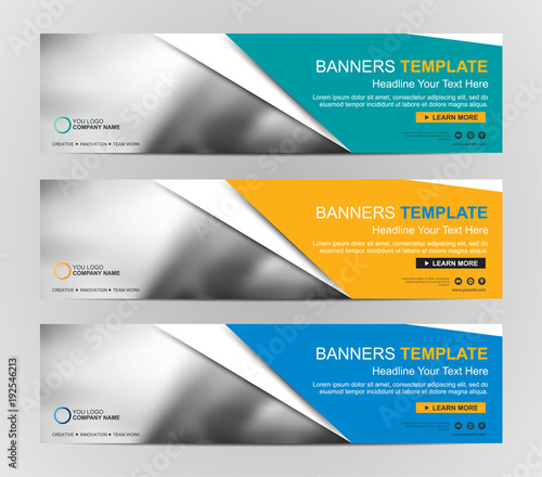 Abstract Web banner design background or header Templates\