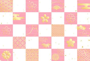 桜 市松模様