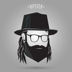 Hipster long hair style
