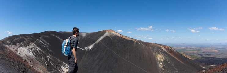 Ascension du volcan Cerro Negro, Nicaragua