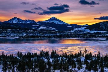 Sunrise in Breckenridge, Colorado