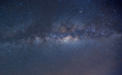 Milkyway during starry night sky. image content soft focus, blur and noise due to long expose and high iso.