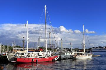 Stockholm, Sweden - Boats docking by the Djurgarden Island