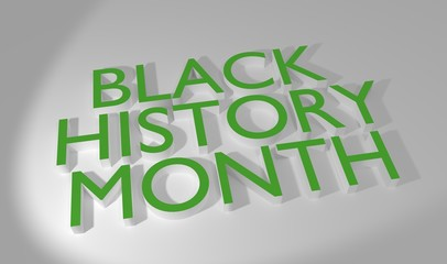 Black Month History 3D render text
