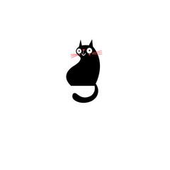 Vector sign of a black cat
