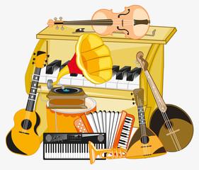 Much music instruments