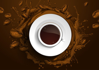 Cup Coffee vector abstract background. vector illustration. you can place relevant content on the area.