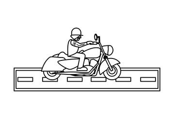 Motorcycle biker design