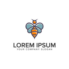 bee logo design concept template.