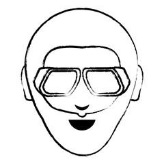 cartoon man with sunglasses