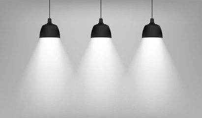 Realistic ceiling lamp. isolated on grey  background. Vector illustration. Eps 10.