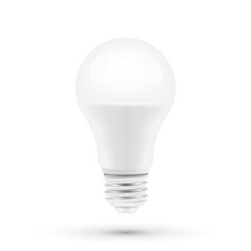 LED light bulbon white background. Vector illustration.