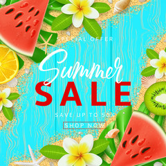 Beautiful background for Summer Sale