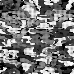 Seamless camouflage khaki pattern military