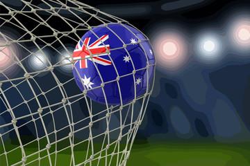 Australian soccerball in net
