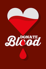 dripping heart donate blood concept vector illustration