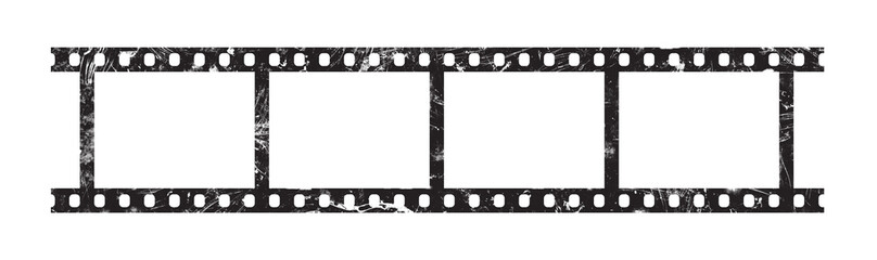 Six frames of 35 mm film strip Wall mural