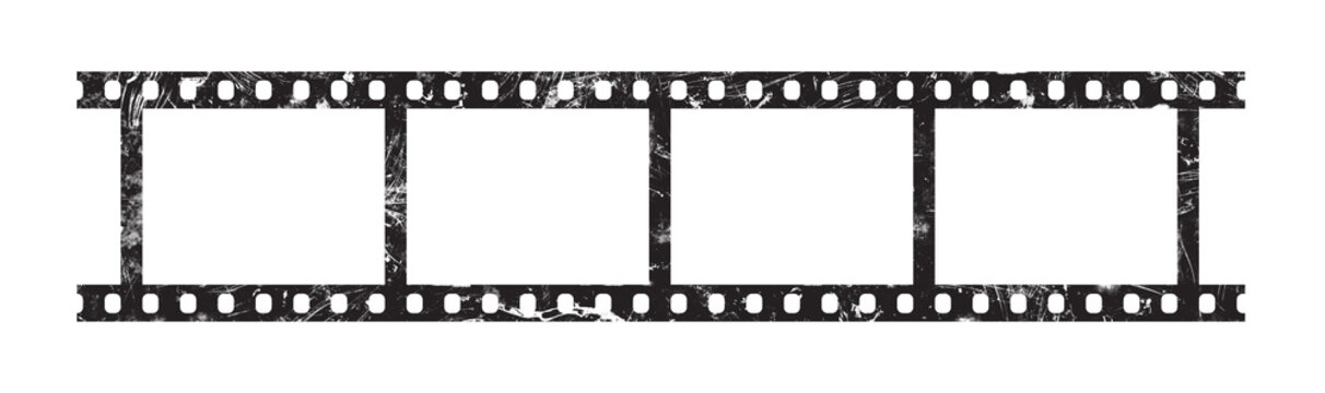Six frames of 35 mm film strip