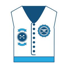 Biker jacket icon