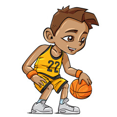 Basketball Cartoon Boy