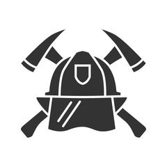 Firefighters maltese cross glyph icon