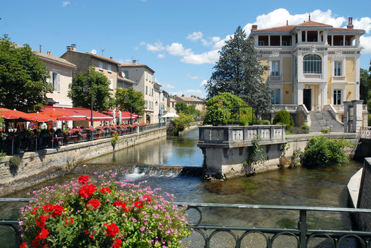 L'Isle-sur-la-Sorgue (Vaucluse) vue sur la Sorgue, Luberon, ProvenceFrance