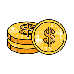coins money isolated icon vector illustration design