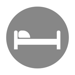 Bed with pillow icon