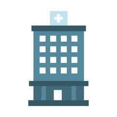 Hospital building symbol icon vector illustration graphic design
