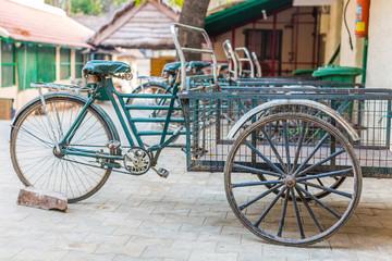 Fahrradkurier in Indien