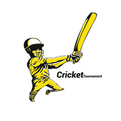 Cricket Australia vector illustration.