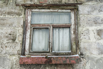 Old wooden Windows. Background from old Windows.