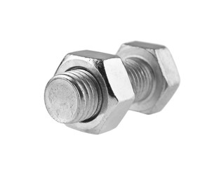 metal bolt isolated on white background